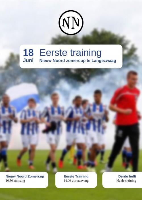 Eerste training sc Heerenveen langezwaag met Nieuw Noord Zomercup