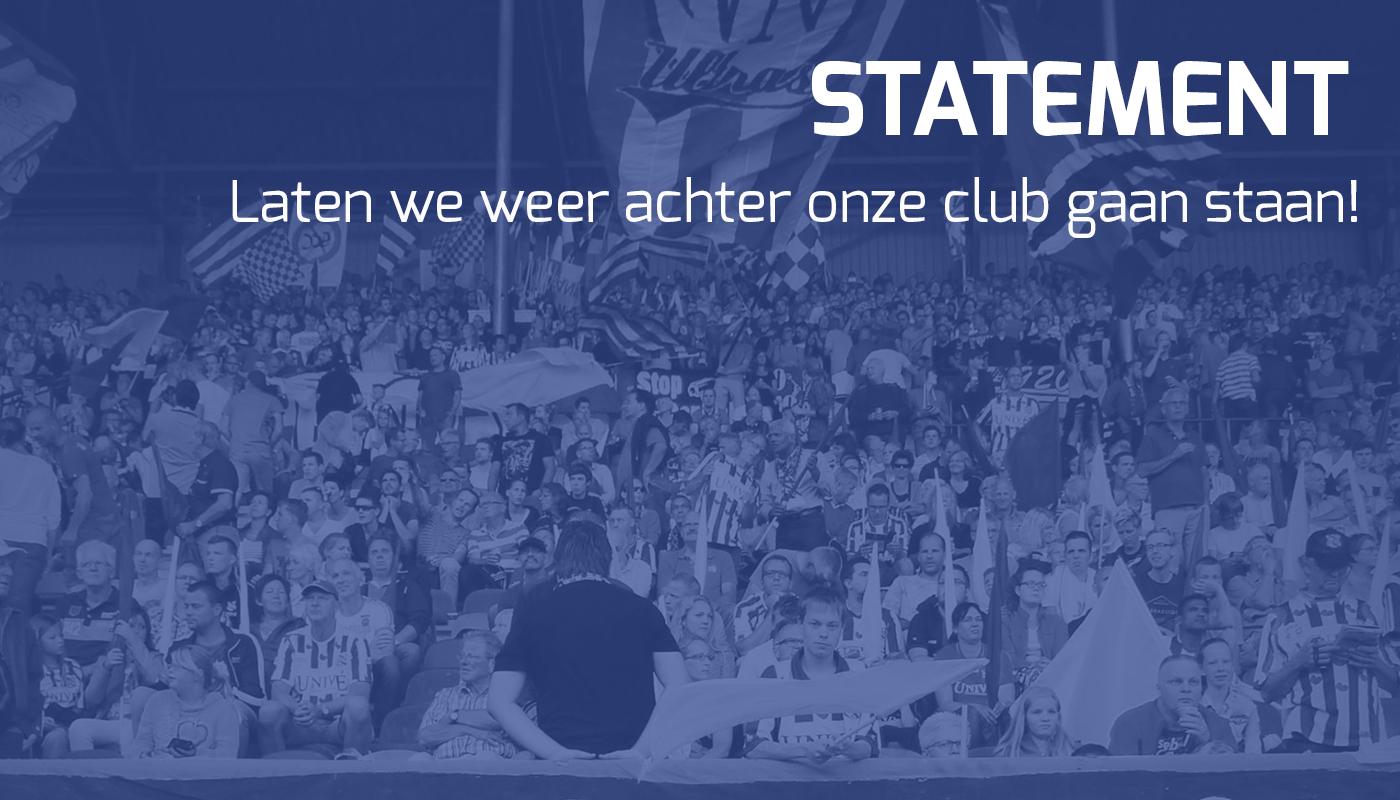 statement laten we weer achter onze club gaan staan