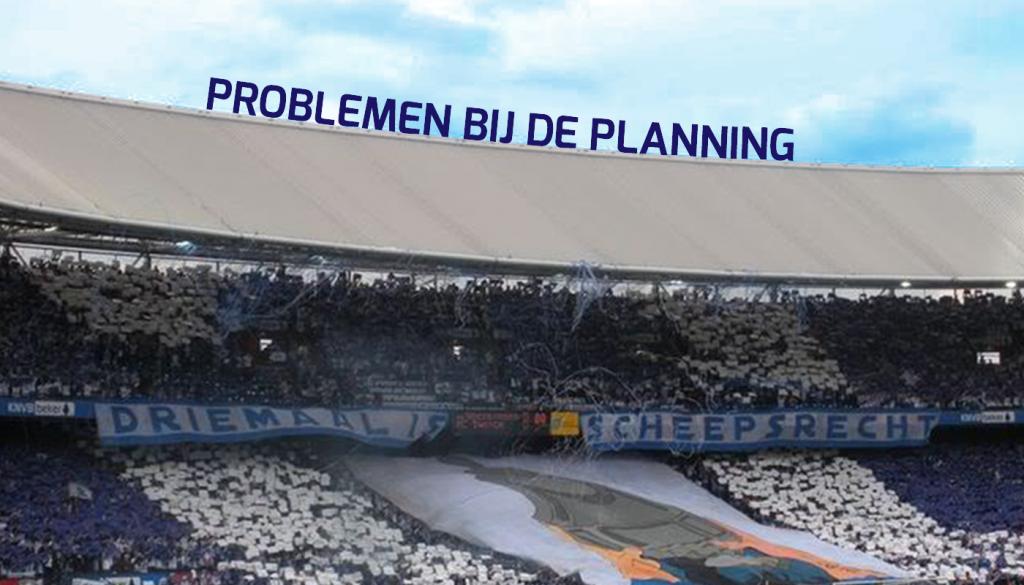 Bekerfinale 2009: Problemen met de planning