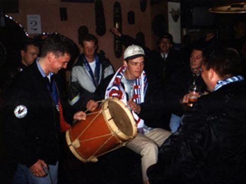 De eerste trommel
